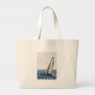 Racing Sailboat Canvas Bag