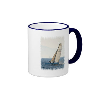 Racing Sailboat Coffee Mug