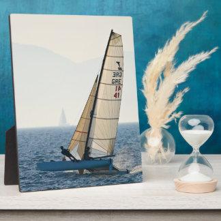 Racing Sailboat Plaque