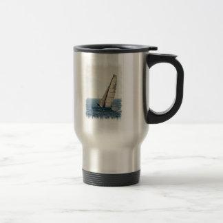 Racing Sailboat Stainless Travel Mug