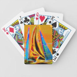 Racing Sailboats Bicycle Playing Cards