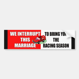 Racing Season Bumper Sticker