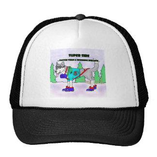 RACING SIBERIAN CARTOON TRUCKER HAT