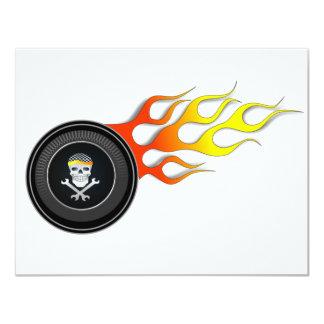 Racing Skull in Flaming Wheel Custom Announcements