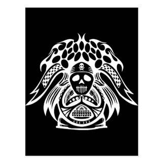 Racing Skull Postcard