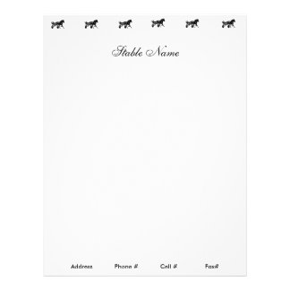Racing Stable Letterhead Paper