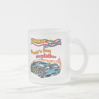 Racing Stepfather Father's Day Gifts 10 Oz Frosted Glass Coffee Mug