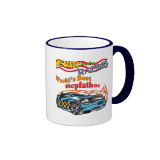 Racing Stepfather Father's Day Gifts Ringer Coffee Mug