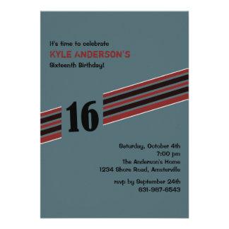 Racing Stripe Invitation