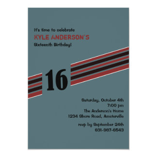 Racing Stripe Invitation