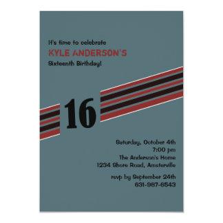 "Racing Stripe Invitation 5"" X 7"" Invitation Card"