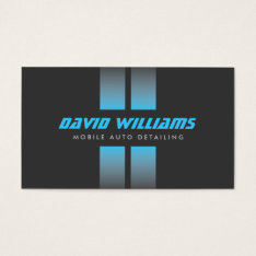 Racing Stripes Blue/gray Auto Detailing, Repair Business Card at Zazzle