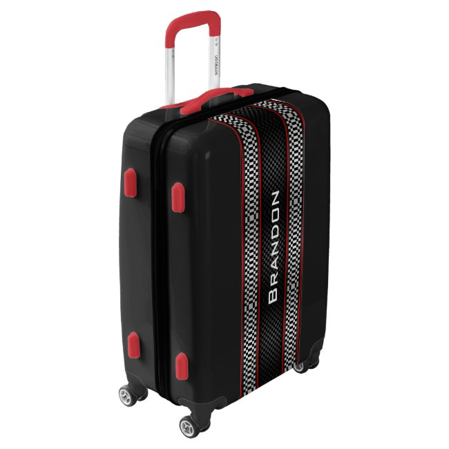 Racing Stripes Design Luggage