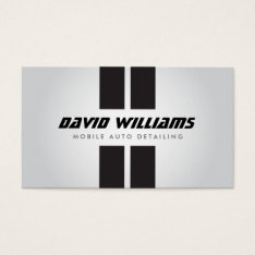 Racing Stripes Gray/black Auto Detailing, Repair Business Card at Zazzle