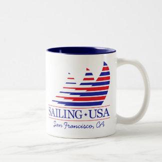 Racing Stripes _SAILING USA_San Francisco Coffee Mugs