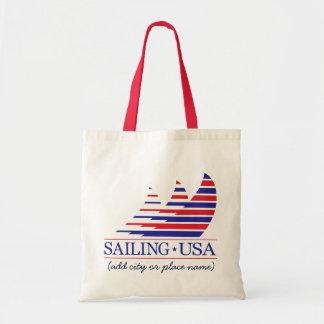 Racing Stripes_Sailing USA Tote Bag