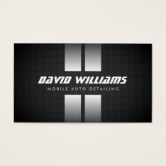 Racing Stripes White/black Auto Detailing, Repair Business Card at Zazzle