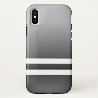 Racing Stripes White Grayish Blue iPhone X Case