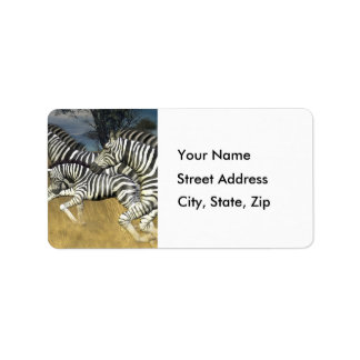 Racing Stripes - Zebra Address Labels