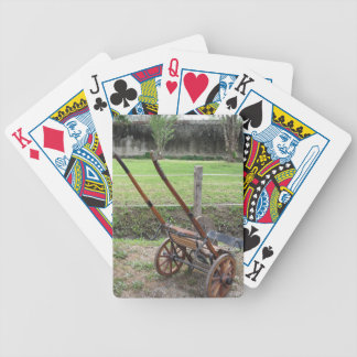 Racing sulky used in harness racing bicycle playing cards