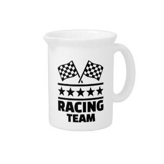 Racing team beverage pitcher