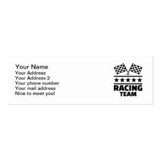Racing team mini business card