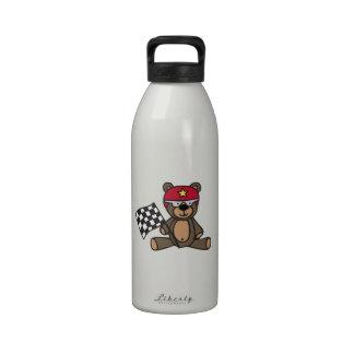 Racing Teddy Bear Water Bottle