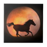 "Racing the Moon Horse Art Tile<br><div class=""desc"">This is a beautiful fantasy tile of a running horse and moon.  Would make an awesome gift,  add a frame or box too!</div>"
