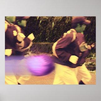 Racing the purple speedball.. print