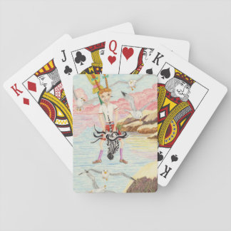 Racing The Seagulls Playing Cards
