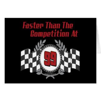 Racing Themed Birthday Gifts Card