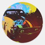Racing thene classic round sticker