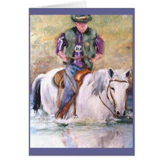 Racing Thru Life - Enjoy the Ride Greeting card