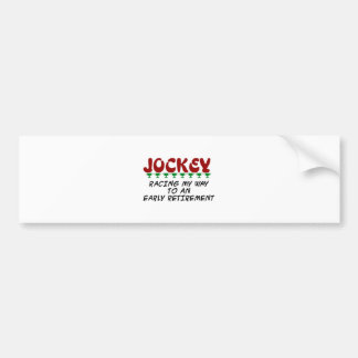 Racing to Retirement Car Bumper Sticker