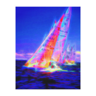 Racing to the finish canvas print