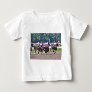 Racing to the Finish Line at Saratoga Baby T-Shirt
