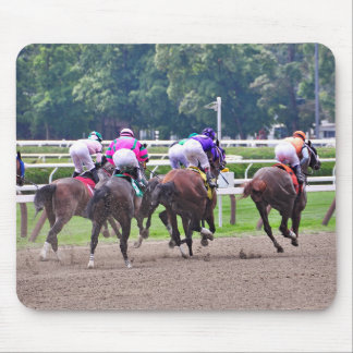 Racing to the Finish Line at Saratoga Mouse Pad