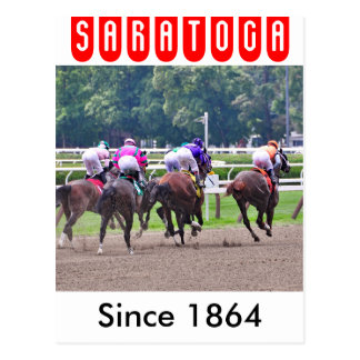 Racing to the Finish Line at Saratoga Postcard