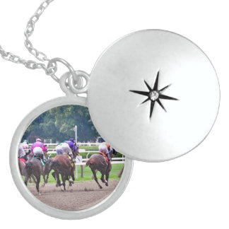 Racing to the Finish Line at Saratoga Sterling Silver Necklace