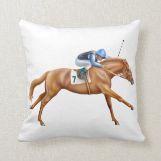 Racing to the Finish Line Pillow