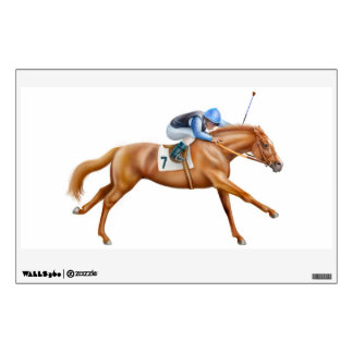 Racing to the Finish Line Race Horse Wall Decal