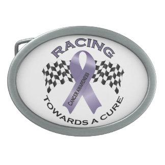 Racing Towards a Cure - All Cancer - Buckle Oval Belt Buckle