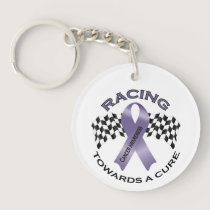 Racing Towards a Cure - All Cancer - Key Ring Keychain