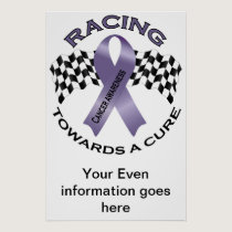 Racing Towards a Cure - All Cancer - Poster