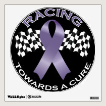 Racing Towards a Cure v2 - All Cancer - wall Circl Wall Sticker