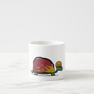 racing turtle 6 oz ceramic espresso cup
