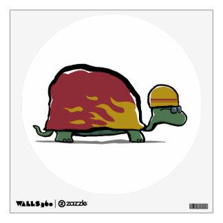 racing turtle wall decal