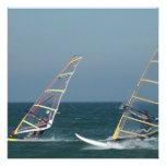 Racing Windsurfers Invitations