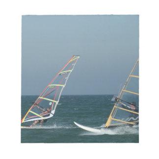 Racing Windsurfers Notepad