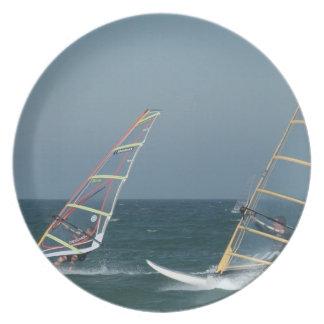 Racing Windsurfers Plate